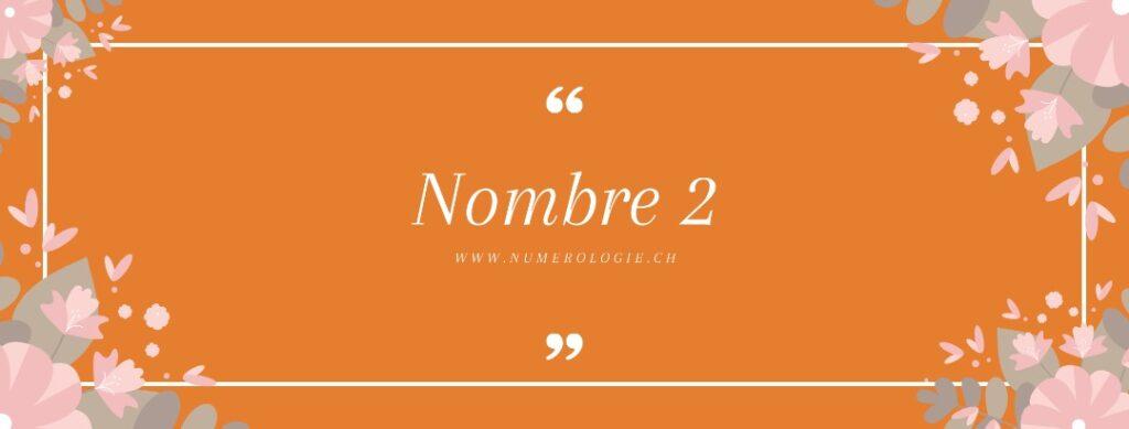 nombre 2 numerologie