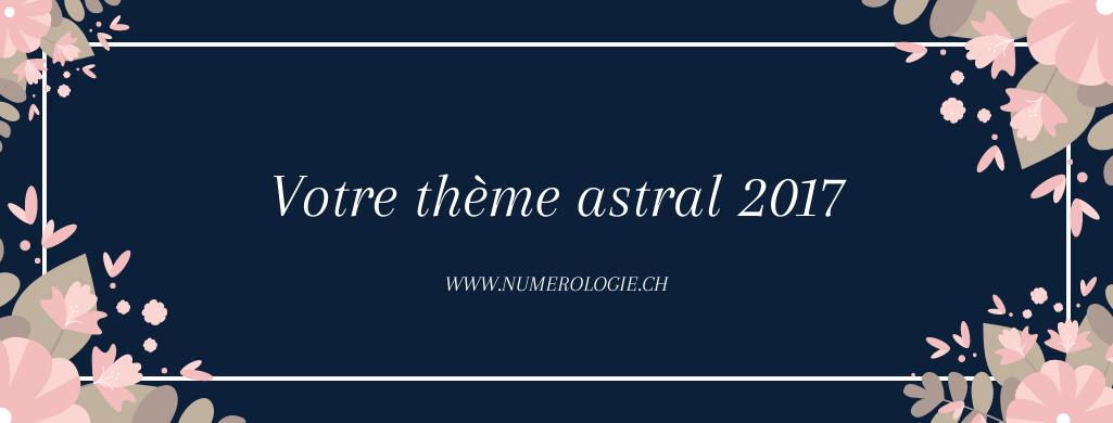 Votre thème astral 2017